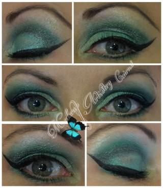 green eye makeup artist cairns