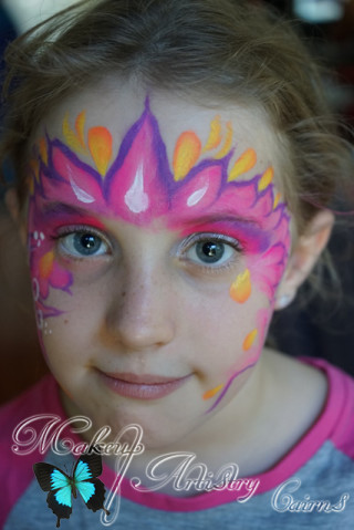 Face Painter Cairns makeup artist Pink Crown