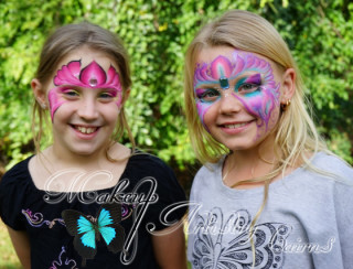 kids face painting ~ cairns makeup artist ~ fairy face paint