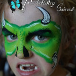 kids face painting ~ cairns makeup artist ~ monster face paint
