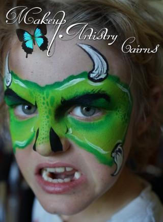kids face painting ~ cairns makeup artist ~ monster face paint