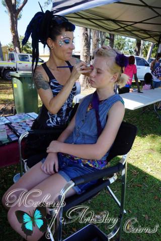 face painter cairns makeup artist picnic day 14
