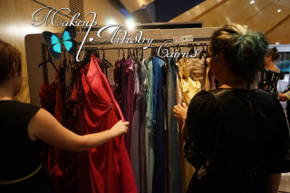 Shopping for Wedding and Formal Gowns at the cairns Wedding and Formal Expo 2015 Makeup Artistry Cairns