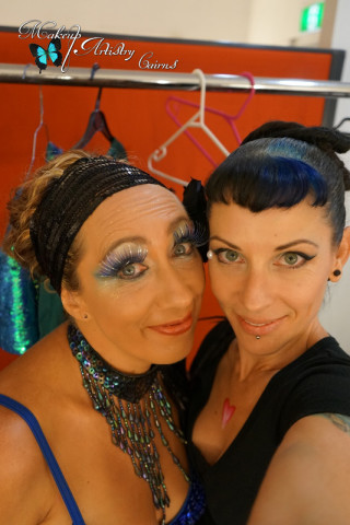 makeup artist cairns ~ coca theatre stage makeup ~ pole play studios