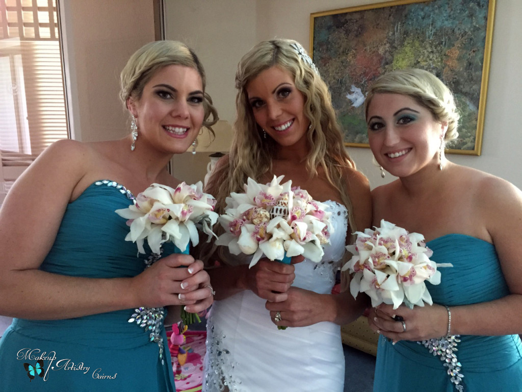 Sam, Stacey and Jess ~ Port Douglas Wedding Makeup